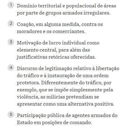 Caract milicias